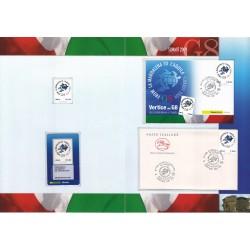 Folder Italia 2009 Vertice G8 val. fac. € 10,00