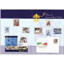 Folder Italia 2013 I Papi nei francobolli val. fac. € 12,00