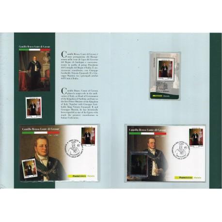 Folder Italia 2010 Camillo Benso Conte di Cavour val. fac. € 15,00