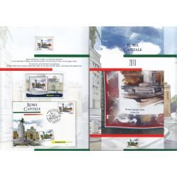 Folder Italia 2010 Roma Capitale val. fac. € 30,00