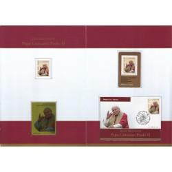 Folder Italia 2011 Beatificazione Papa Giovanni Paolo II val. fac. € 20,00