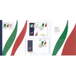 Folder Italia 2011 Unità d'Italia Tricolore Foglietto val. fac. € 22,00