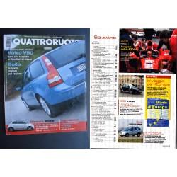 Quattroruote 581 03/2004 Volvo V50 - Alfa Romeo Giugiaro - Jaguar
