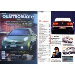 Quattroruote 567 01/2003 NISSAN MICRA, VOLVO XC 90, LEXUS IS 200