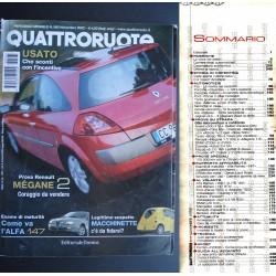 Quattroruote 565 11/2002 Renault Mégane 2. Come va Alfa 147. VW Touareg