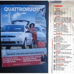 Quattroruote 560 06/2002 Nuova Fiesta e C3. Alfa Romeo 156 GTa. Volvo S40