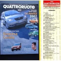 Quattroruote 555 01/2002 Prova VW Polo. Novità Micra, Stilo Station, Espace