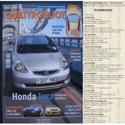 Quattroruote 553 11/2001 HONDA JAZZ, ALFA 147, FIAT STILO, BMW 7