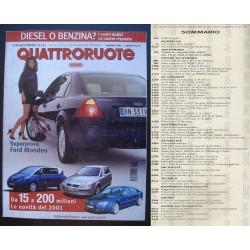 Quattroruote 543 01/2001 Renault Laguna - Twingo - Daewoo Matiz
