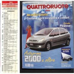 Quattroruote 531 01/2000 Panda 4x4 - Mercedes CL 500 - Smart - Yaris V