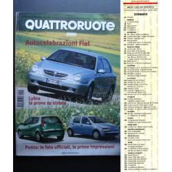Quattroruote 525 07/1999 LANCIA LYBRA, FIAT PUNTO, BUGATTI EB 218