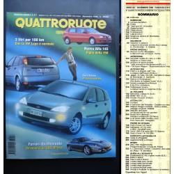 Quattroruote 517 11/1998 Alfa145 figlia della156.Ferrari-Quattror:record da 300/ora