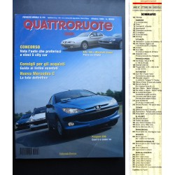 Quattroruote 516 10/1998 PEUGEOT 206-ALFA ROMEO 166-FIAT BRAVO