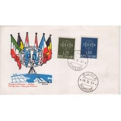 FDC ITALIA 1959 UNED Unif. 877 Europa CEPT annullo Roma