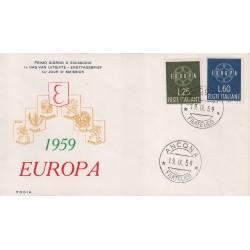 FDC ITALIA 1959 RODIA - 877 Europa CEPT annullo Ancona