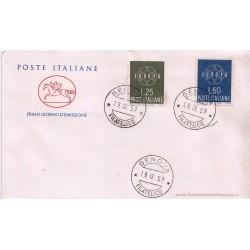 FDC ITALIA 1959 Cavallino - 877 Europa CEPT a/o Genova