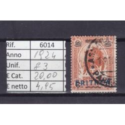 Italia Colonie - Eritrea 1924 Francobolli di Somalia sovrast. 15c usato