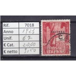 Italia Colonie - Eritrea 1923 Marcia su Roma 50c usato