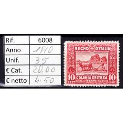 Italia Colonie - Eritrea 1910 Serie Pittorica 10c MNH**