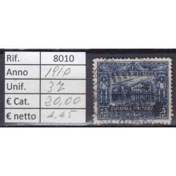 Italia Colonie - Eritrea 1910 Serie Pittorica 25c usato rif. 8010