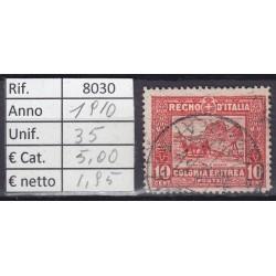 Italia Colonie - Eritrea 1910 Serie Pittorica 10c usato rif. 8030