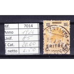 Italia Colonie - Eritrea 1922 Vittoria sovrastampati 50c usato rif.7014