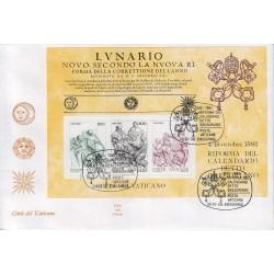 FDC VATICANO 1982 ALA 216 bis - Riforma del calendario Gregoriano