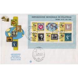 FDC ITALIA 1985 Filagrano BF3 Esposizione Mondiale 5 Continenti