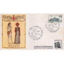 FDC ITALIA Marcofilia - annullo speciale 10/04/1972 Milano I° Centenario dell'AIDA