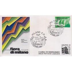 FDC ITALIA Marcofilia - annullo speciale 14/04/1972 50^ Fiera di Milano
