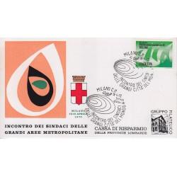 FDC ITALIA Marcofilia - annullo speciale 16/04/1972 Incontri dei sindaci delle grandi aree metropolitane Milano