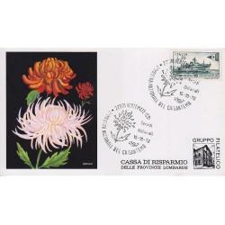 FDC ITALIA Marcofilia - annullo speciale 15/10/1972 2° Mostra Nazionale del Crisantemo Vertemate