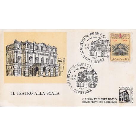 FDC ITALIA Marcofilia - annullo speciale 03/08/1977 Teatro della Scala Milano