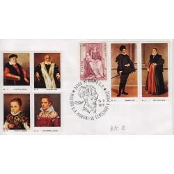 FDC Erinnofilo Cariplo annullo speciale 15/9/1979 Bergamo Mostra G.B. Moroni 01
