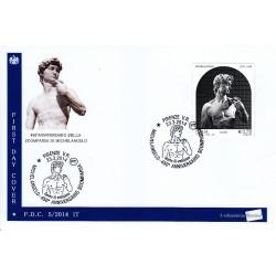 IT Repubblica 05/2014 FDC - 23/03/2014 - Michelangelo, nel 450° anniversario della scomparsa annullo speciale Firenze