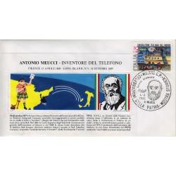 FDC Erinnofilo Cariplo annullo speciale 04/09/1976 Antonio Meucci