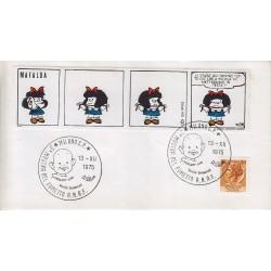 FDC Erinnofilo Cariplo annullo speciale 13/12/1975 5^ Mostra del fumetto
