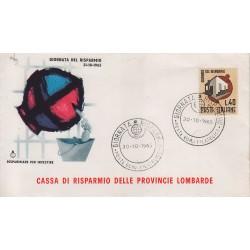 FDC Italia Cassa di Risparmio 30/10/1965 Giornata del Risparmio a/s