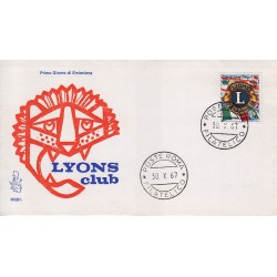 FDC Italia Venetia 1967 260-it Lions Club annullo Roma