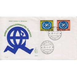 FDC Italia Venetia 1967 259-it Anno Internazionale Turismo annullo Roma