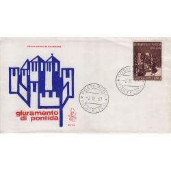 FDC Italia Venetia 1967 257-it Giuramento di Pontida annullo Roma