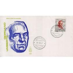 FDC Italia Venetia 1967 256-it U. Giordano annullo roma