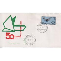 FDC Italia Venetia 1967 254-it Posta Aerea annullo roma