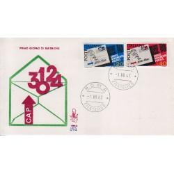 FDC Italia Venetia 1967 253-it Codice Avviamento Postale annullo roma