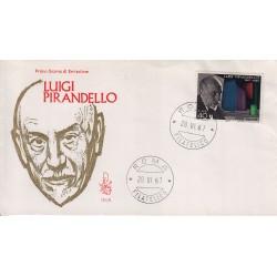 FDC Italia Venetia 1967 251-it Luigi Pirandello annullo Roma