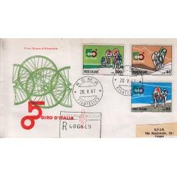 FDC Italia Venetia 1967 250-it 50° Giro d'Italia annullo Roma raccomandata