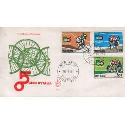FDC Italia Venetia 1967 250-it 50° Giro d'Italia annullo Roma viaggiata