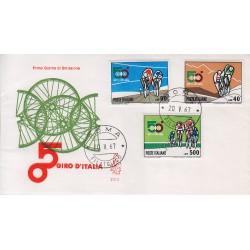 FDC Italia Venetia 1967 250-it 50° Giro d'Italia annullo Roma