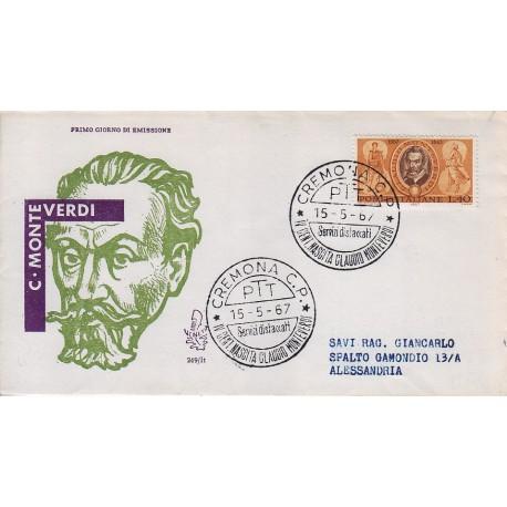 FDC Italia Venetia 1967 249-it Claudio Monteverdi annullo speciale