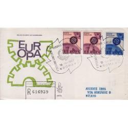 FDC Italia Venetia 1967 247-it Europa raccomandata